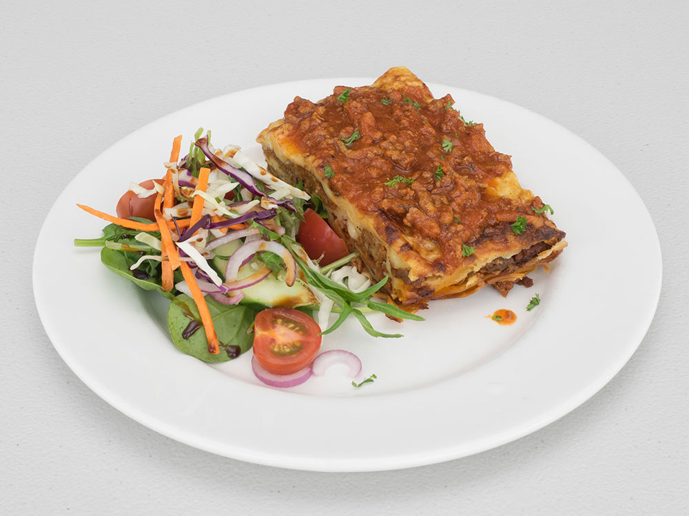 lunch beef lasagne