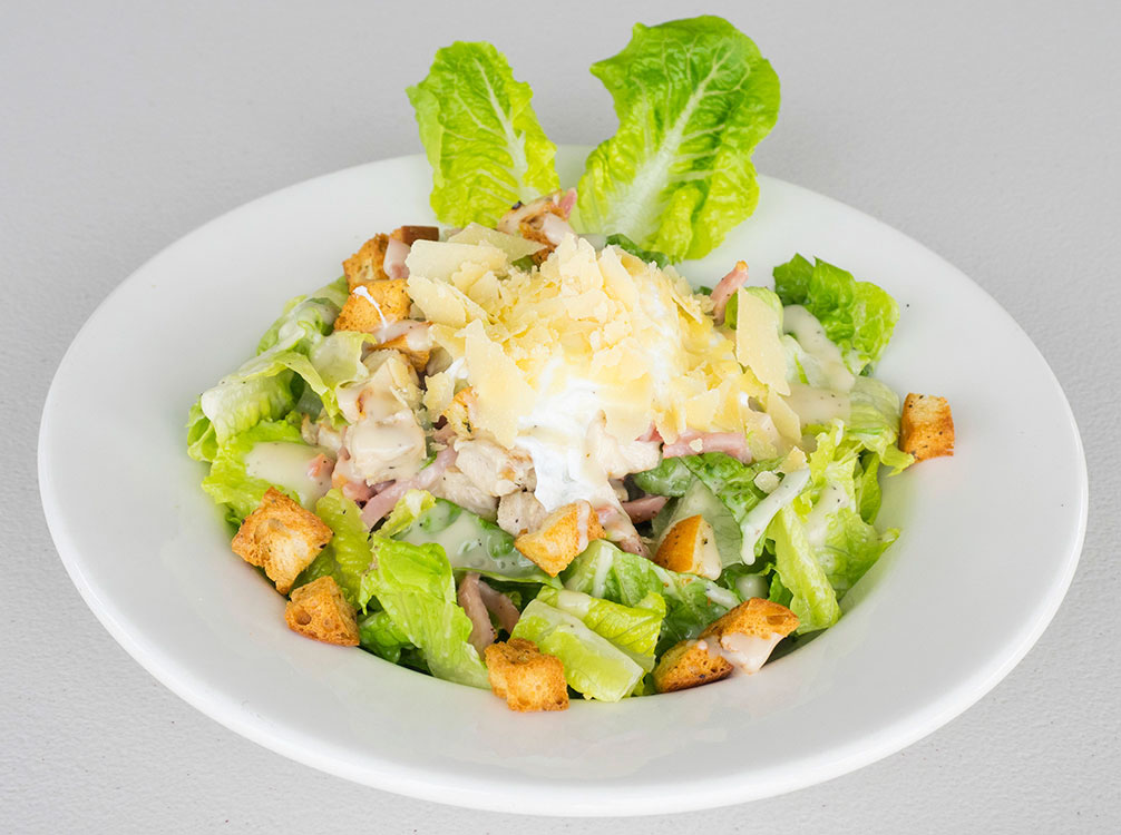 lunch chicken ceaser salad